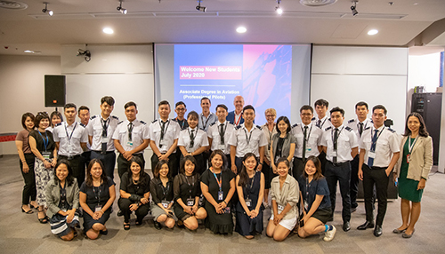 The first cohort of cadets attended orientation at RMIT's Saigon South campus where they will study the first semester of their Australian-based course online